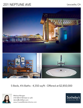 Printable PDF flyer of Modern Coastal Home. Photos & Basic Info
