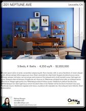 Printable PDF flyer of Modern Coastal Home. Photos & Short Description