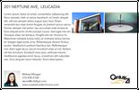 Printable PDF flyer of Modern Coastal Home. Basic Postcard
