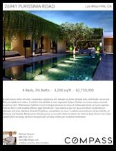 Printable PDF flyer of Los Altos Modern. Photos & Short Description