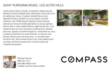 Printable PDF flyer of Los Altos Modern. Basic Postcard
