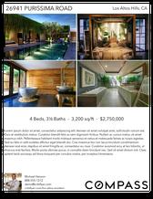 Printable PDF flyer of Los Altos Modern. 4 Photos & Short Description