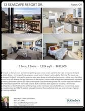 Printable PDF flyer of 13 Seascape Resort Dr.. 4 Photos & Short Description