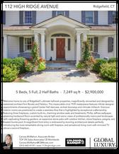 Printable PDF flyer of 112 High Ridge Avenue. Main Photo & Short Description