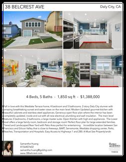 Printable PDF flyer of 38 Belcrest Ave. 4 Photos & Short Description