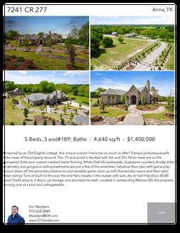 Printable PDF flyer of 7241 CR 277. 4 Photos & Short Description