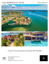 Printable PDF flyer of Island Living is a Lifestyle, 1559 Barfield Court. Photos & Basic Info