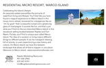 Printable PDF flyer of Island Living is a Lifestyle, 1559 Barfield Court. Basic Postcard