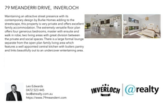Printable PDF flyer of 79 Meanderri Drive. Basic Postcard