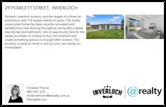 Printable PDF flyer of 29 Powlett Street. Basic Postcard