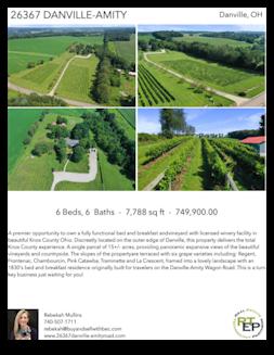Printable PDF flyer of 26367 Danville-Amity Road. 4 Photos & Short Description