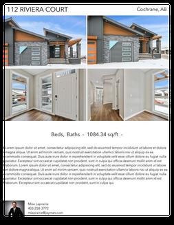 Printable PDF flyer of 112 Riviera Court. 4 Photos & Short Description