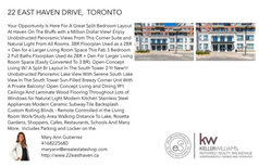 Printable PDF flyer of 22 East Haven Drive, 912. Basic Postcard