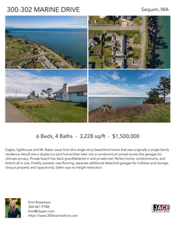 Printable PDF flyer of 300-302 Marine Drive. 4 Photos & Short Description