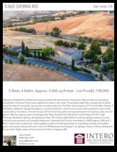 Printable PDF flyer of 5365 Sierra Rd. Main Photo & Short Description