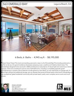 Printable PDF flyer of 563 Emerald Bay. Main Photo & Short Description