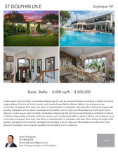 Printable PDF flyer of 37 Dolphin Ln E. 4 Photos & Short Description