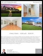 Printable PDF flyer of 49 Jefferson Ave. 4 Photos & Short Description