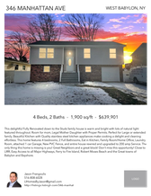Printable PDF flyer of 346 MANHATTAN AVE. Main Photo & Short Description