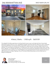 Printable PDF flyer of 346 MANHATTAN AVE. 4 Photos & Short Description