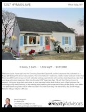 Printable PDF flyer of 1257 Hyman Ave. Main Photo & Short Description
