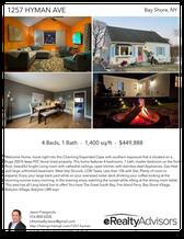 Printable PDF flyer of 1257 Hyman Ave. 4 Photos & Short Description