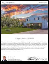 Printable PDF flyer of 772 Pat Drive. Main Photo & Short Description