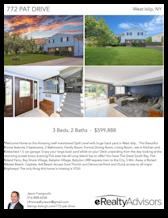 Printable PDF flyer of 772 Pat Drive. 4 Photos & Short Description