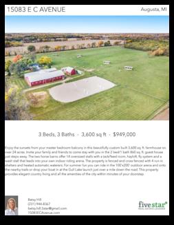 Printable PDF flyer of 15083 E C Avenue. Main Photo & Short Description